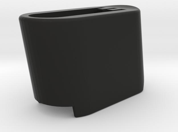 Base Plate Extension Sleeve Large in Black Natural Versatile Plastic