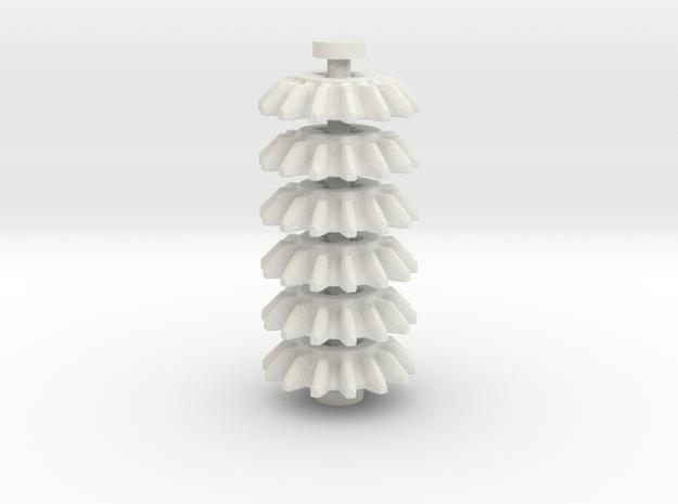 14z Bevel Gear, 6 piece set in White Natural Versatile Plastic