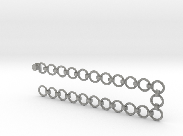 2x10 mm Chain with Coupler in Metallic Plastic