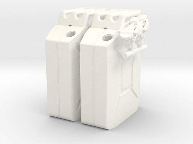 NATO 20L Jerry Can 1/10 Scale X2 in White Processed Versatile Plastic