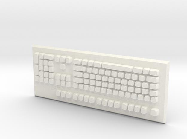 Keyboard in White Processed Versatile Plastic