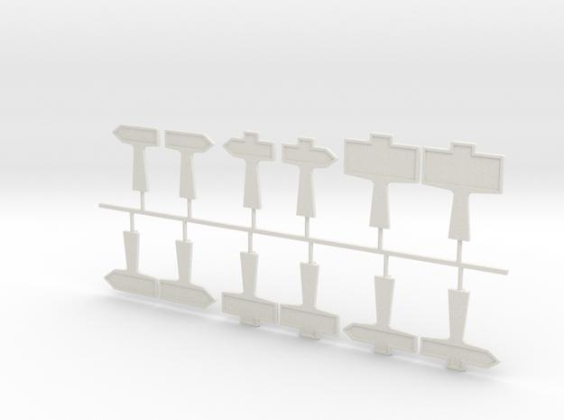 Poteaux routiers béton H0 in White Natural Versatile Plastic