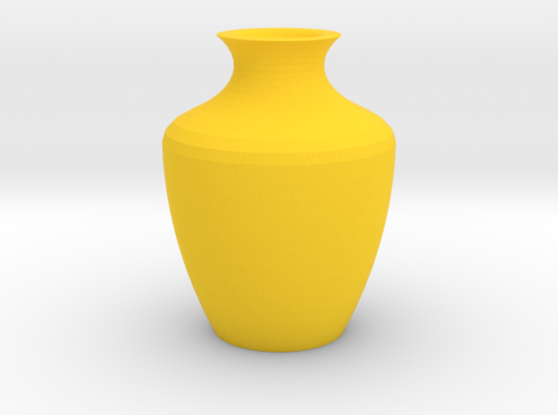 Amphor Vase Small in Yellow Strong & Flexible Polished