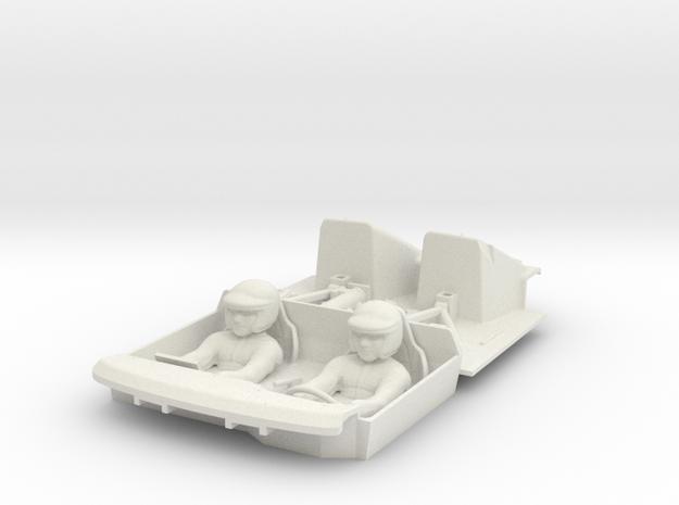 S05-SA1 Cockpit for Scalextric Lancia Delta S4 in White Natural Versatile Plastic