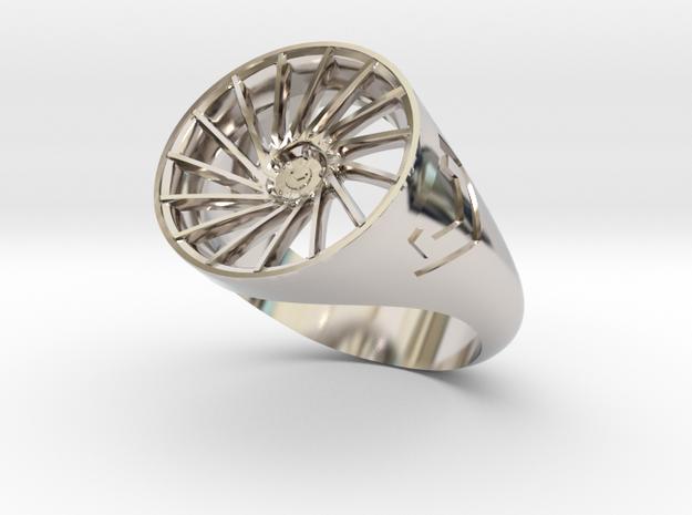 Vossen VPS304 Ring Size10 in Rhodium Plated Brass