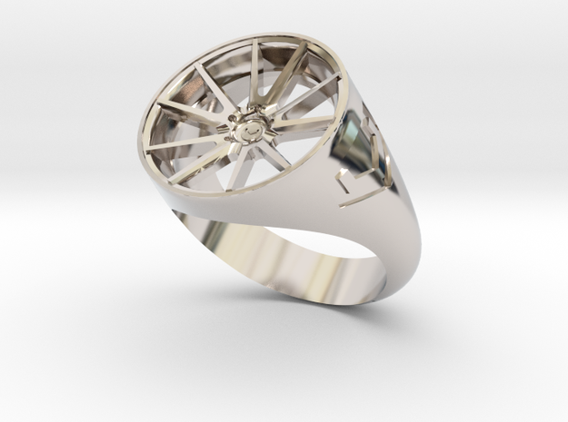 Vossen VFS1 Ring Size10 in Rhodium Plated Brass