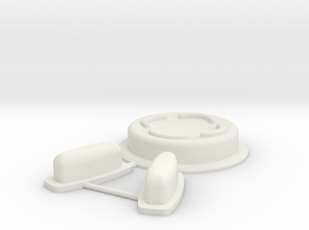 Vortex Manipulator Touch (mk2) Buttons in White Strong & Flexible