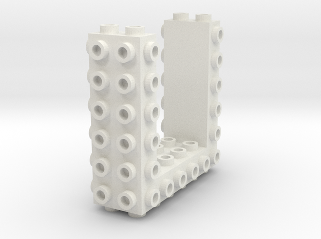 Core Brick 6x2x2 - Beta 01 - Mold in White Strong & Flexible
