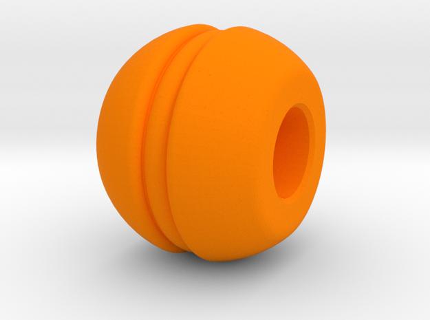 Let Them Eat Cake - Macaron Bead in Orange Strong & Flexible Polished