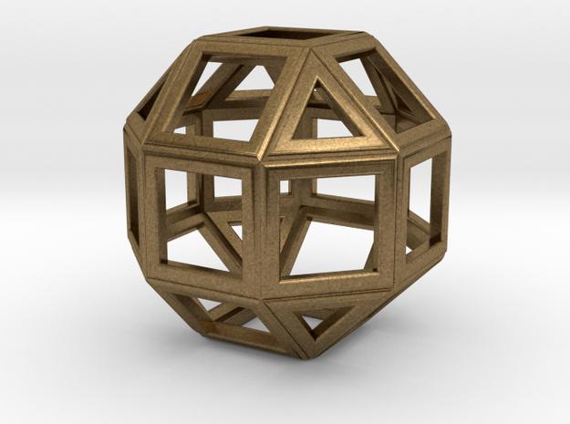 da Vinci's rhombicuboctahedron in Natural Bronze