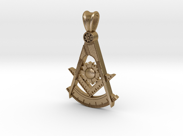 (Small)PAST MASTER PENDANT in Polished Gold Steel