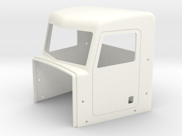 Pete Style Extended Day Cab in White Processed Versatile Plastic