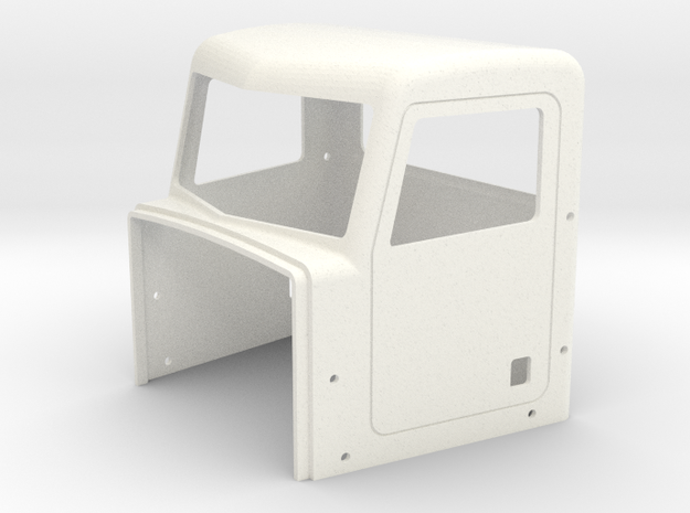 Pete Style Day Cab in White Processed Versatile Plastic