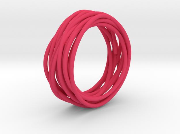 Nest Ring in Pink Processed Versatile Plastic