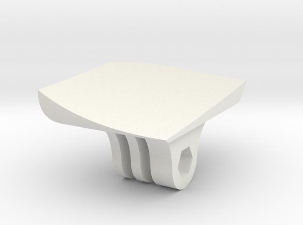 RVJET Gopro Mount in White Natural Versatile Plastic
