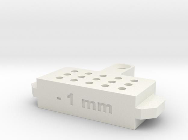 Bleed Block-1mm in White Natural Versatile Plastic