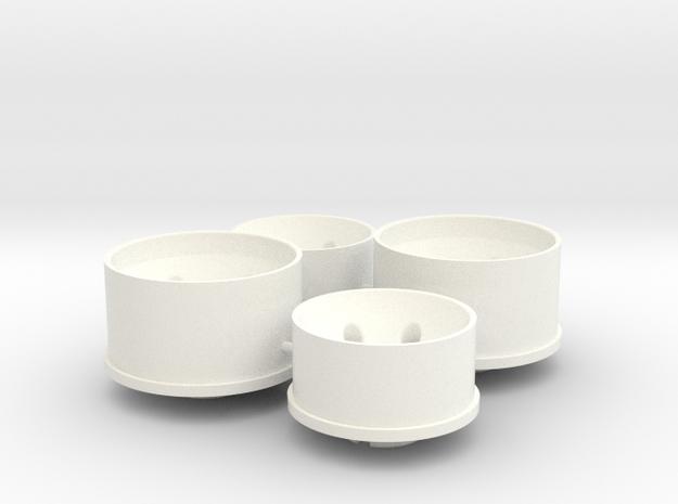 LM Wheels in White Processed Versatile Plastic