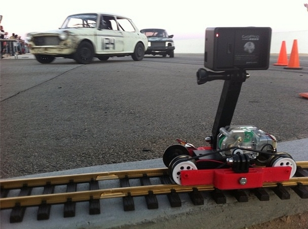 Train-lapse rig for GoPro