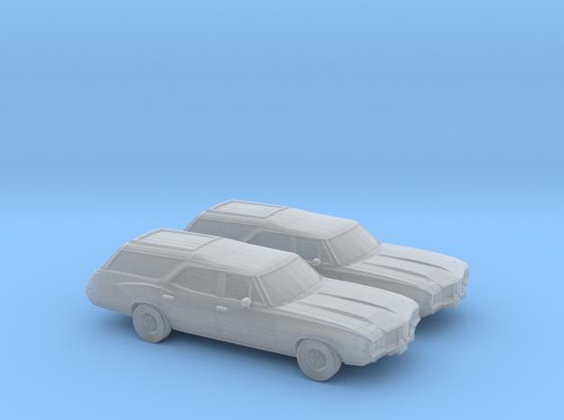 1/120 2X 1968-72 Oldsmobile Vista Cruiser in Smooth Fine Detail Plastic