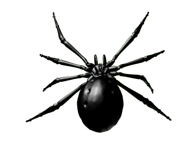 Black Widow Spider 3d printed