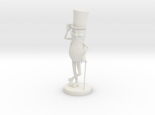 Mr. Peanut Figure in White Natural Versatile Plastic