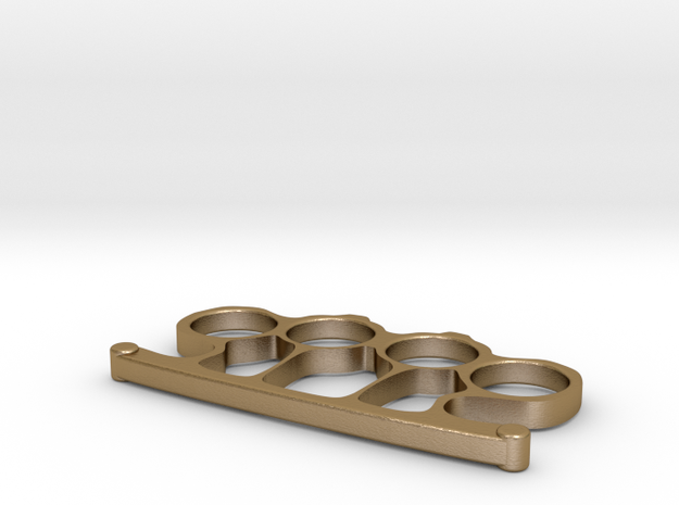 Brass Knuckles in Polished Gold Steel