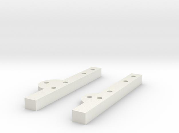 SCX10 Cantilever Mounts in White Natural Versatile Plastic
