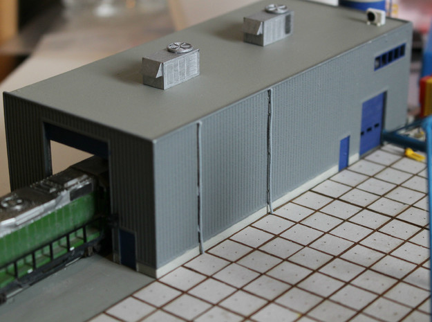 N Scale Train Maintenance Building
