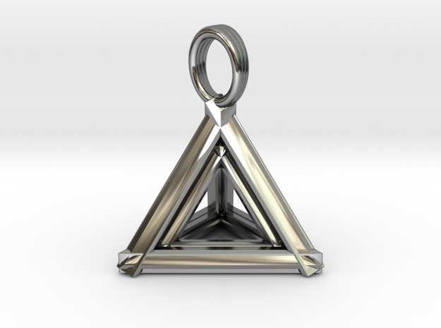 TETRAHEDRON DIAMOND (pendant) in Premium Silver