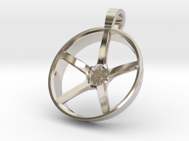 Vossen KeyChain VPS303 in Rhodium Plated Brass