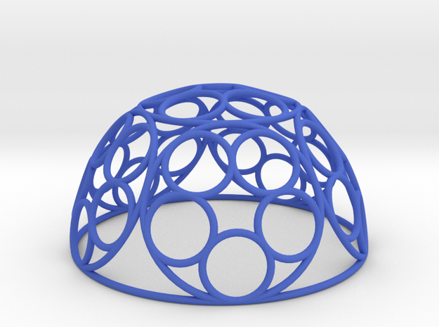 Ring Dome in Blue Processed Versatile Plastic