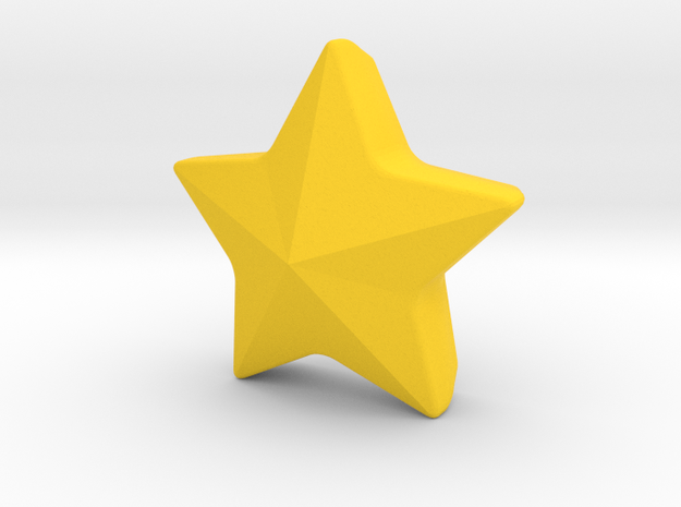 Wall hanging star in Yellow Processed Versatile Plastic