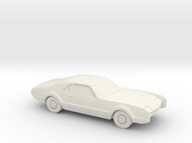 1/87 1966 Oldsmobile Toronado in White Natural Versatile Plastic