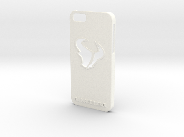 MAVERICKS IPHONE 6 CASE in White Strong & Flexible Polished