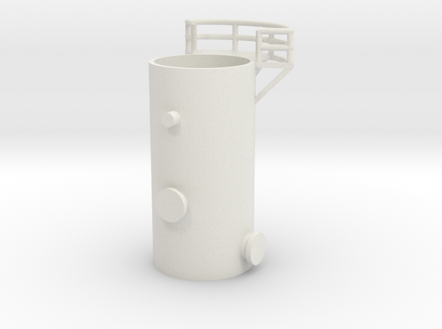 'N Scale' - 10' Distillation Tower - Bottom in White Natural Versatile Plastic
