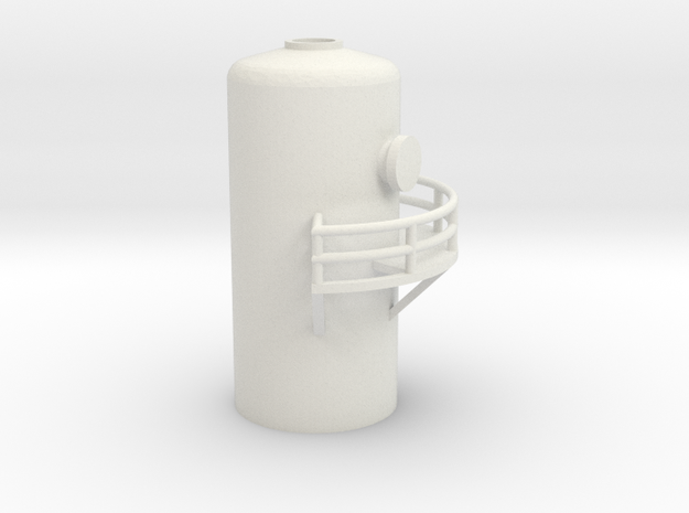 'N Scale' - 10' Distillation Tower - Top in White Natural Versatile Plastic