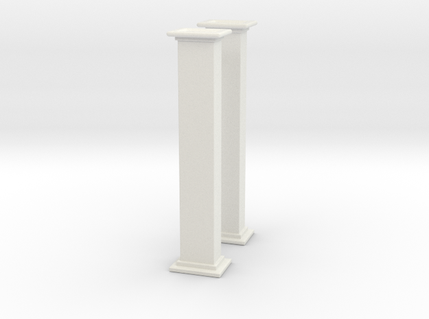 'HO Scale' - Bucket Elevator - 10' Casing in White Natural Versatile Plastic