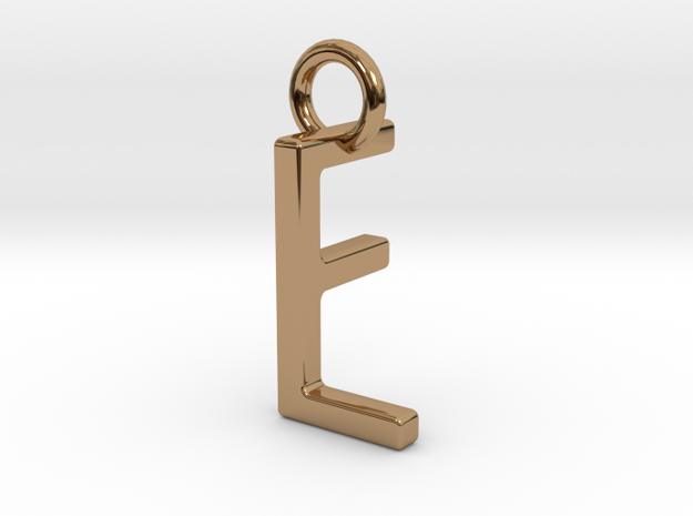 Two way letter pendant - FL LF in Polished Brass