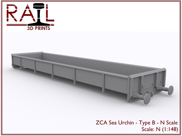 ZCA Sea Urchin - N Scale - Type B in Smooth Fine Detail Plastic