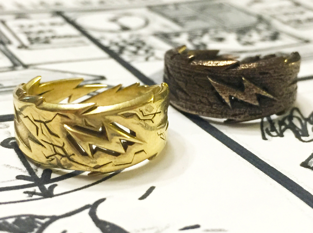 Power : Zeus Ring Size 12 in Polished Brass