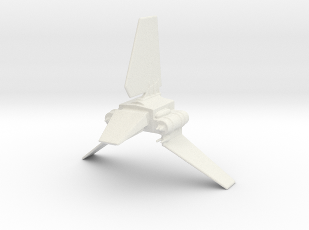 Imperial Shuttle in White Natural Versatile Plastic