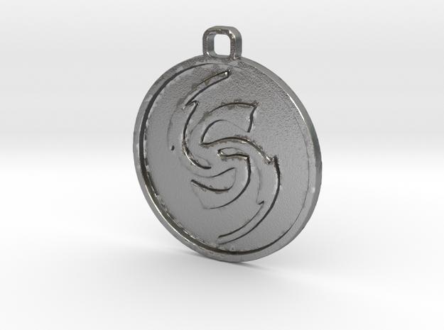 Flicker Symbol in Natural Silver