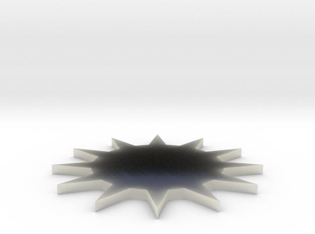 TUW14875 KAMP3799 Urenrad Sterrad in Transparent Acrylic