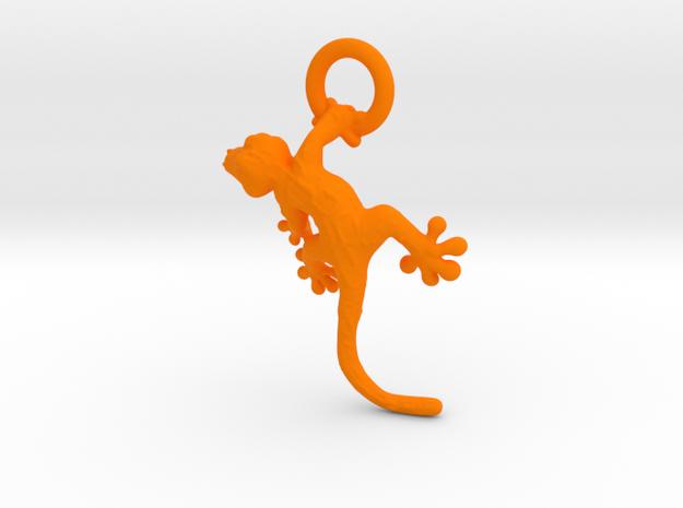 Gecko Pendant in Orange Processed Versatile Plastic