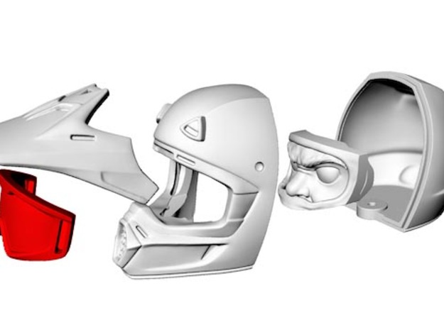 WW10005 Wild Willy Moto Goggles 3d printed Purchase only includes red part. See link below to purchase the complete figure