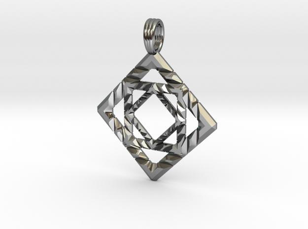 GALACTIC CUBE in Premium Silver