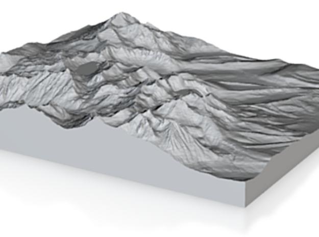 Model of Goat Lake in Natural Sandstone