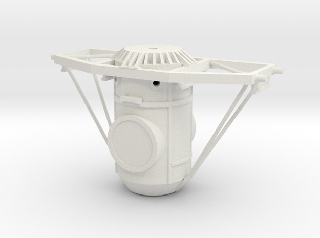 Orbital Docking System Main Body And Frame in White Natural Versatile Plastic