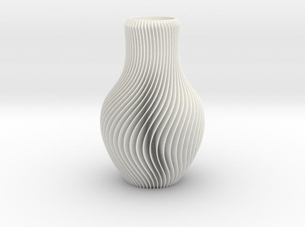 Vase in White Processed Versatile Plastic