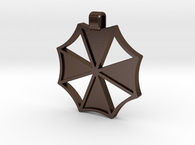 Umbrella Corp Pendant in Polished Bronze Steel